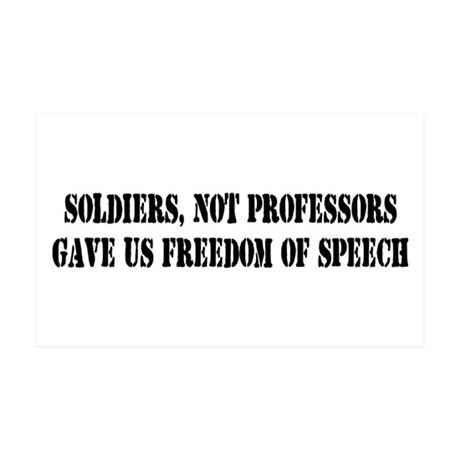 Soldiers Give Freedom of Spee Sticker (Rectangular