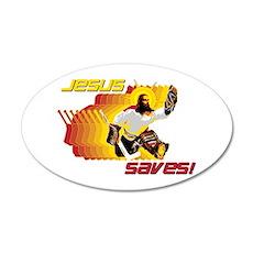 Jesus Saves 20x12 Oval Wall Peel