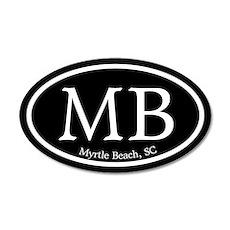 Myrtle Beach MB Euro Oval 20x12 Oval Wall Peel