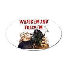Wackem and trackem 20x12 Oval Wall Peel