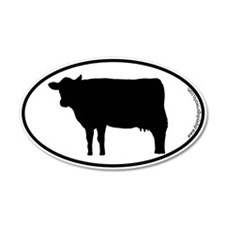 Cow SILHOUETTE 35x21 Oval Wall Peel