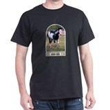 Loping Quarter Horse Paint Black T-Shirt