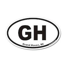 Grand Haven Michigan GH Euro 35x21 Oval Wall Peel