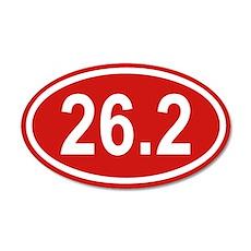 26.2 Marathon Red Euro 35x21 Oval Wall Peel