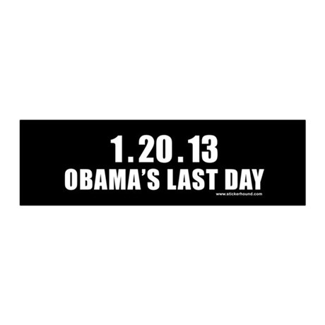1.20.13 Obama's Last Day 20x6 Wall Peel