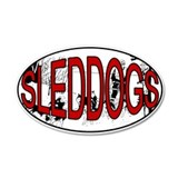 Sleddog 35x21 Oval Wall Peel