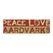 Peace Love Aardvarks 36x11 Wall Peel