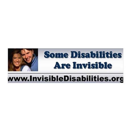 Some Disabilities Are Invisible - 36x11 Wall Peel