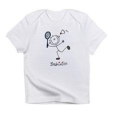 Stick Figure Badminton Infant T-Shirt