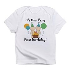 Twin Babies 1st Birthday Infant T-Shirt