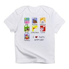 I Love Farm Animals Infant T-Shirt