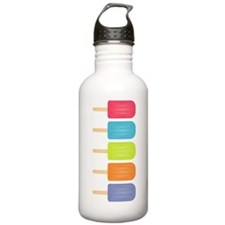 Colorful Popsicles Water Bottle