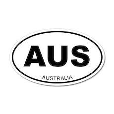 Australia 35x21 Oval Wall Peel