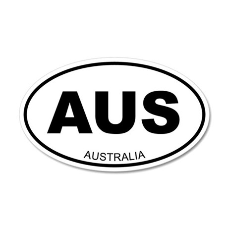 Australia 35x21 Oval Wall Peel