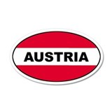 Austrian Flag 35x21 Oval Wall Peel
