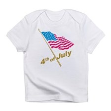 Fourth of July American flag Infant T-Shirt