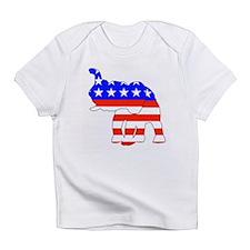 Republican GOP Logo Elephant Creeper Infant T-Shir