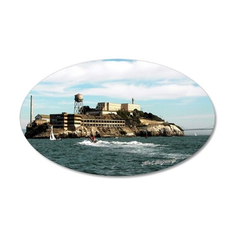 Alcatraz 'The Rock' 20x12 Oval Wall Peel