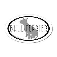 Bull Terrier Oval w/Txt(inner bdr) 35x21 Oval Wall