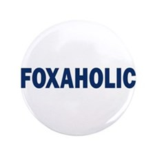 "Fox aholic v2 3.5"" Button"