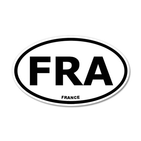 France 35x21 Oval Wall Peel
