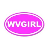 WV GIRL West Virginia Girl Pink 20x12 Oval Wall Pe