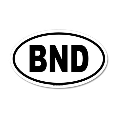 BND 35x21 Oval Wall Peel