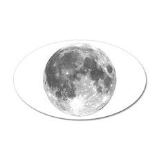 The Moon 35x21 Oval Wall Peel