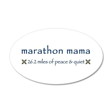 Marathon Mama 20x12 Oval Wall Peel