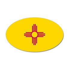 New Mexico Flag 20x12 Oval Wall Peel