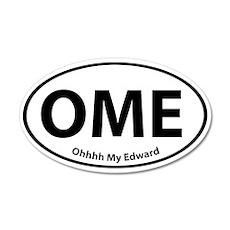 Ohhhh My Edward 35x21 Oval Wall Peel