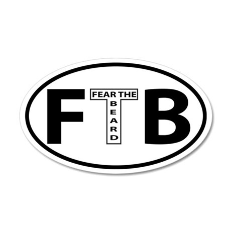 FTB Oval decal 35x21 Oval Wall Peel
