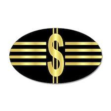 John Galt Dollar Emblem 20x12 Oval Wall Peel