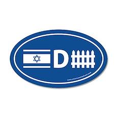 Israel Defense 35x21 Oval Wall Peel