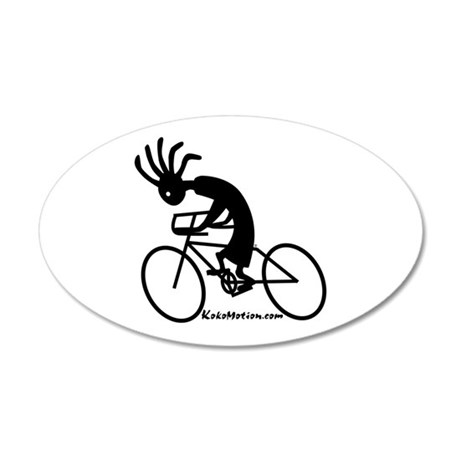 Kokopelli Road Cyclist 35x21 Oval Wall Peel
