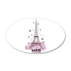 Eiffel Tower 20x12 Oval Wall Peel