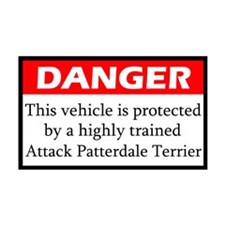 Attack Patterdale Terrier Sticker