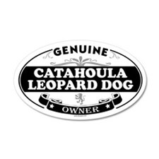 CATAHOULA LEOPARD DOG 20x12 Oval Wall Peel