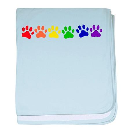 Rainbow Paws baby blanket