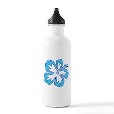 Blue Surf Flowers Water Bottle