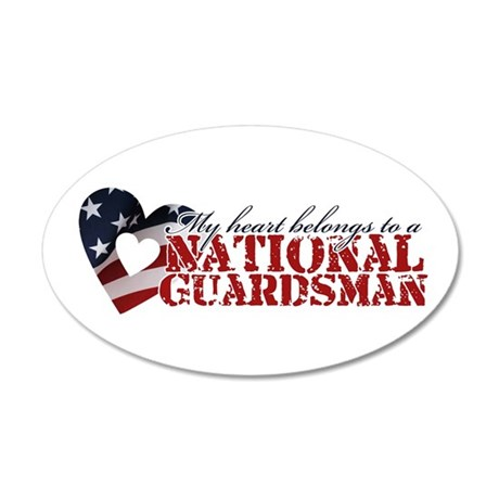 My heart belongs to a Guardsman 35x21 Oval Wall Pe