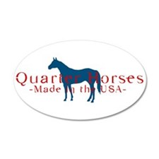 Quarter Horse 20x12 Oval Wall Peel