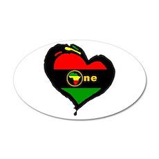 Afro Rasta 20x12 Oval Wall Peel