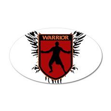 WARRIOR HEART 35x21 Oval Wall Peel
