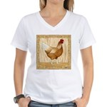 Golden Hen Women's V-Neck T-Shirt