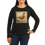 Golden Hen Women's Long Sleeve Dark T-Shirt