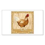 Golden Hen Sticker (Rectangle 50 pk)
