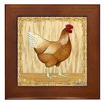 Golden Hen Framed Tile