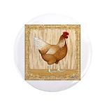"""Golden Hen 3.5"""" Button (100 pack)"""