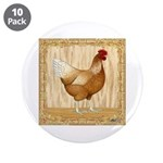 """Golden Hen 3.5"""" Button (10 pack)"""